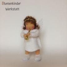 Blumenkinderwerkstatt Engel mit Beinchen und Trompete