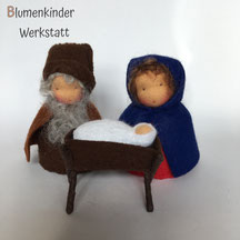 Blumenkinderwerkstatt Heilige Familie Kegelpuppe