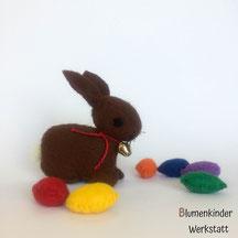 Blumenkinderwerkstatt Osterhase mit Eiern