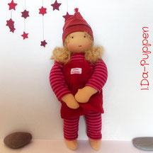 I.Da-Puppen: Stoffpuppe Anja 32cm