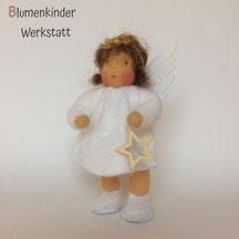 Blumenkinderwerkstatt Engel mit Beinchen und Holzstern