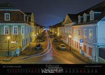 Der Rudolstadt Kalender, das perfekte Geschenk. Damit bleibt man das ganze Jahr in Erinnerung. Die Schillerstraße.