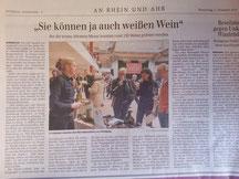 Die Presse berichtete ausführlich über die Ahrweinmesse.