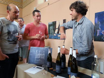 Weinpräsentation der Garagenwinzer an der Ahr mit dem Weingut Michael Fiebrich.