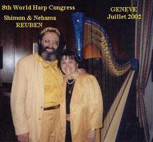 Shimon REUBEN & Nehama REUBEN. DUO REUBEN. World Harp festival GENEVE Switzerland 2002