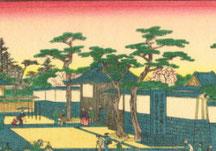 当時の大坂城玉造門(黒門) 初代・長谷川貞信