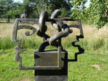Moderner Kunstpfad bei Garten-Christensen