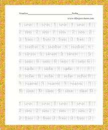 Caligrafías para practicar con los números, para que estén igualados y no sean unos más altos que otros, por ejemplo.