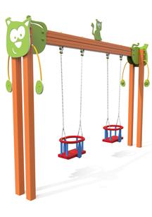 Altelene accessibili disabili Cat Swing giochi per parco, giochi per parchi, attrezzature per parchi gioco, strutture ludiche Stileurbano Ciuffo Baobab certificati Norma EN1176 CATAS stileurbano oratorio FOM odielle abbiategrasso