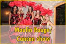 Moulin rouge dansshow, cancan dansshow, franse danseressen