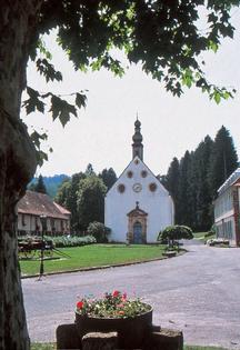 Eglise des Verriers rose de cristal lettenbach saint-quirin verrerie