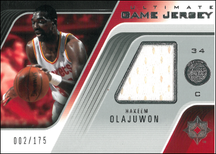 HAKEEM OLAJUWON / Ultimate Game Jersey - No. UGJ-HO  (#d 2/175)