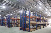 Project Led hangspots hangarmatuur rond dimbaar verlichting winkel showroom bedrijfhal verkoop hal BBM Ledproducts