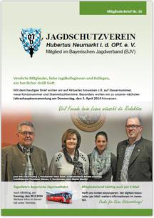 Jagdschutzverein Hubertus Neumarkt e. V. Mitgliederbrief Nr. 16