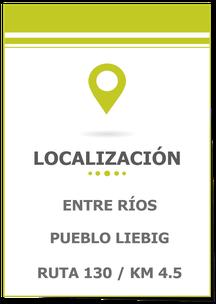 Se vende 1 hectárea sobre ruta 130 camino a Villa Elisa; Terreno en Pueblo Liebig