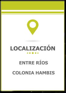 Lotes en Colonia Hmbis, Entre Ríos; Lote en Colonia Hambis; Loteo en Colonia Hambis; Carina Rossier Inmobiliaria Vende Lotes en Colonia Hambis