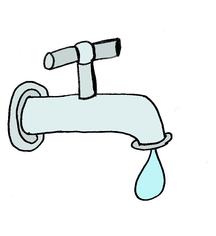 Grafik Wasserhahn tropft