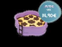 Springform Blume, Flieder, mit Kuchen gefüllt, Silikon-Backform, backen, kochen, Küche, Blumenform, Backform Blume