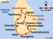 14 Tage Rundreise Sri Lanka Höhepunkte ab 2.099,- € inkl.Flug; Badeverlängerung mögl.