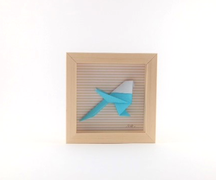 Cadre origami Mésange - Format 11 x 11cm - 20€