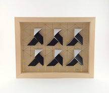 Cadre origami 6 cocottes - Format 24 x 18cm - 38€