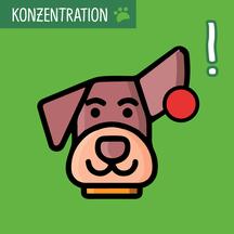 Grafik mit Hund mit Ball