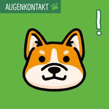 Grafik mit einem Hundekopf