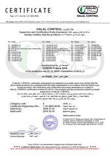 Halal Zertifikat, DÜBÖR, certificate, DÜBÖR TRENNAKTIV Bio 200, TRENNAKTIV Bio 400 Bio, organic, Trennmittel, Backtrennmittel, release
