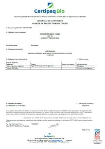 Certipaq Bio Zertifikat