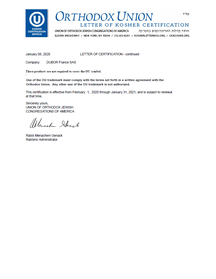 VORSCHAU 2-2 Kosher FR Zertifikat