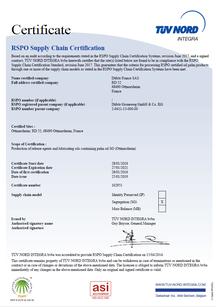 RSPO/SG FR Zertifikat DÜBÖR