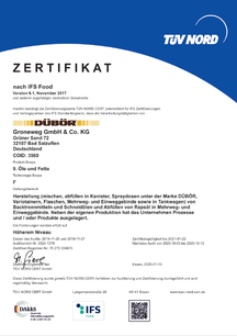 IFS Zertifikat, DÜBÖR