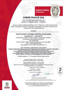 FSSC 22000 Zertifikat DÜBÖR