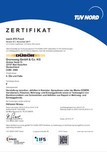 IFS-Zertifikat, DÜBÖR