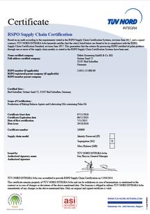 RSPO/SG DE Zertifikat DÜBÖR