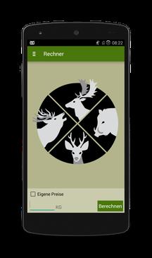 Jagd Rechner Screenshot
