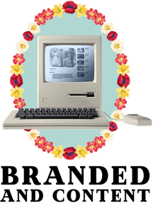 Branded and content logo