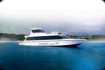 image d'un speed boat sanur à Nusa Penida
