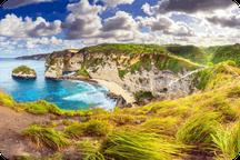 Photo aérienne de Diamond beach à Nusa Penida