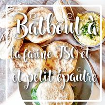 cuisinouverte.com, Batbout, pain cuit à la poele à la farine d'épeautre et T80