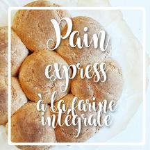 cuisinouverte.com,pain express à la farine intégrale,à l'huile d'olive,vegan.