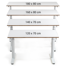Maße höhenverstellbare Schreibtische von ELIOT