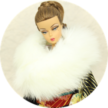 バービー 着物,Barbie kimono,Poppy Parker Furisode,FR NIPPON Wafuku,MISAKI Japan,ショール