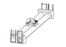 2-Kammern-Organismenwanderhilfe mit Vertikalschieber