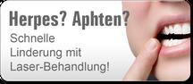 Herpes und Aphten schnell und schmerzarm mit Laser behandeln(© eyetronic - Fotolia.com)