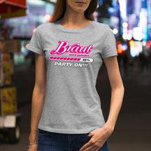 JGA-Shirt für Frauen Braut wird geladen - Party on!!!