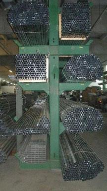 Stahlrohre Formrohre Gewächshauskonstruktion