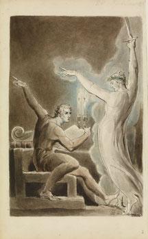 "Illustration to Shakespeare's ""Julius Caesar"" by William Blake (1757-1827)."