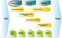 Exemple de cartographie des processus avec pilotage stratégique