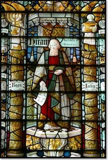 Мозаика, датируемая 1990-м годом, под названием «Архитектор Хирам» в Церкви Святого Иоанна в английском Честере